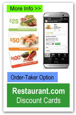 Restaurant Discount Cards