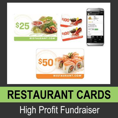 Restaurant Cards - High Profit Fundraiser